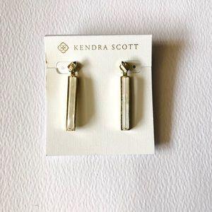 Kendra Scott Ivory Pendant ear jacket earrings